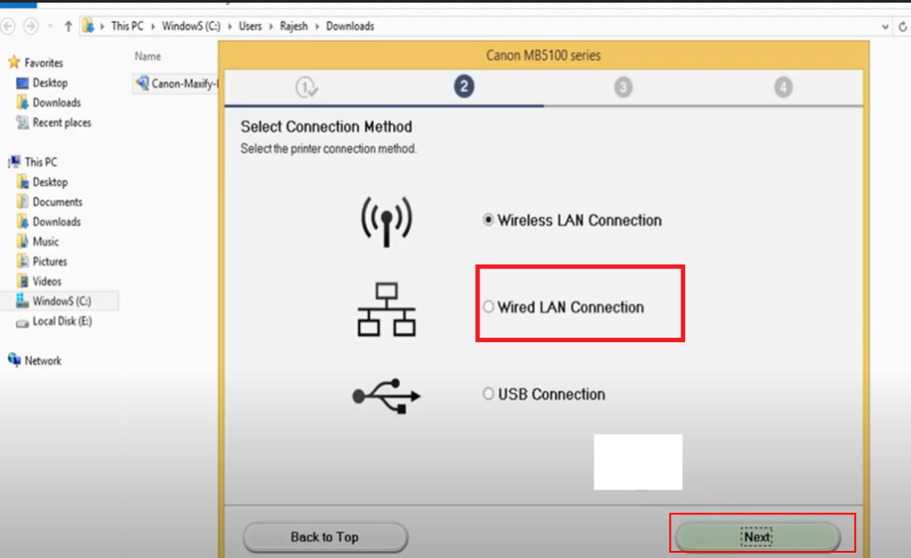 How to install Canon MAXIFY MB5120 Drivers lan
