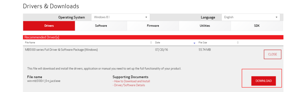 Download Canon MAXIFY MB5120 Drivers from Official Website